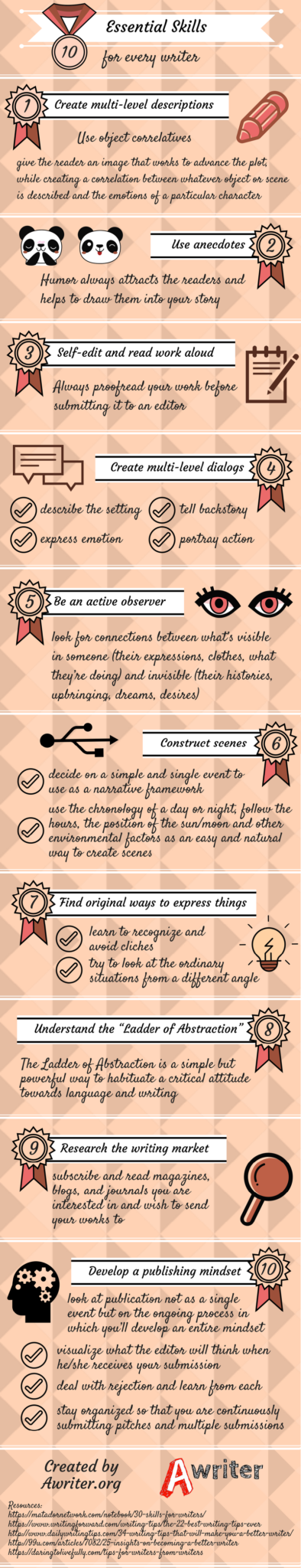 10 Essential Skills for Writers